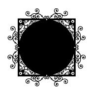 Stickers ardoise motifs cercle et rond pour la déco