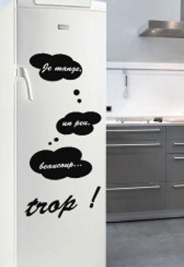 stickers ardoises pour décorer et personnaliser sa porte de frigo