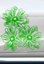 Stickers auto fleurs