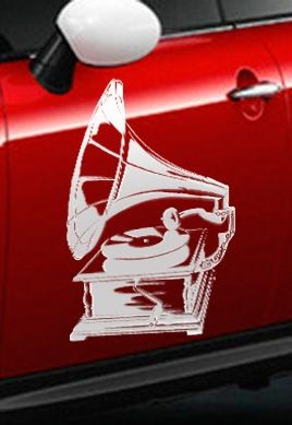 Stickers auto gramophone