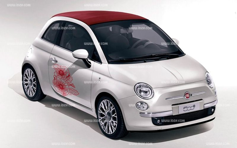 Stickers auto motif fleuri