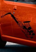 Stickers auto saxophone