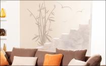 Le stickers bambous et oiseaux pour un décor mural sur le thème de la nature
