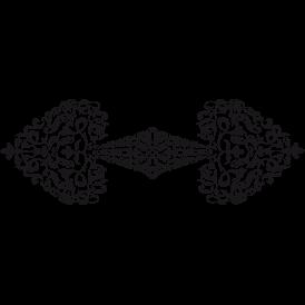 Le stickers baroque as de pique en noir. Décorez sur le thème du baroque.