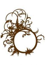 Stickers baroque forme design.