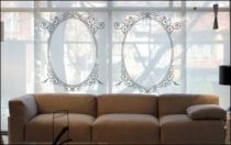 Le stickers baroque forme ovale pour une décoration baroque