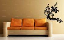 stickers baroque the flower, une belle fleur stylisée pour décorer avec goût vos murs