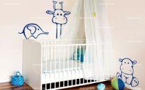 Stickers bébé hippopotame