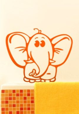 Stickers bébé jungle éléphant