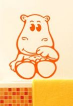 Stickers bébé jungle hippopotame