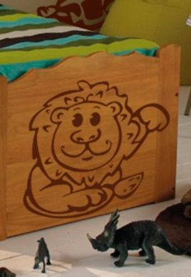 Stickers bébé jungle lion