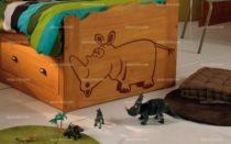 Stickers bébé jungle rhinocéros