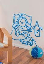Stickers bébé lapine et carotte