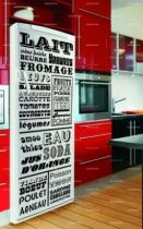 stickers frigo la liste de courses. Black Bedroom Furniture Sets. Home Design Ideas