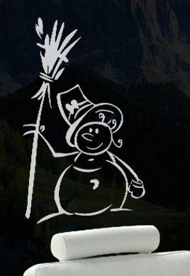 Stickers bonhomme de neige chapeau