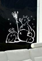 Stickers bonhomme de neige heureux