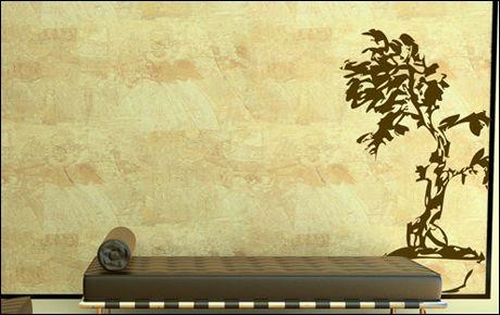 Le stickers bonsaï calligraphie pour décorer l\'intérieur sur le thème de la nature
