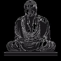 Le stickers Bouddha méditation en noir pour une décoration exotique