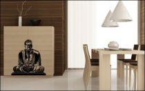 Le stickers Bouddha méditation pour une décoration ethnique et dépaysante