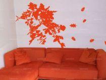 Stickers branche et feuilles de chêne découpés à la forme dans un vinyle adhésif uni.