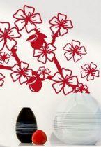 Stickers branche fleurie aux fruits