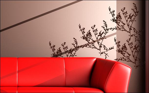 Le stickers branches sauvages pour un décor mural sur le thème de la nature