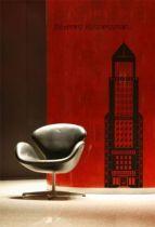 Stickers gratte ciel Building découpé à la forme dans vinyle de couleur unie. Attention vous allez vous sentir tout petit! Stickers vu dans d&co sur M6.