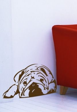 Stickers Bulldog anglais
