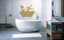 stickers femme bain