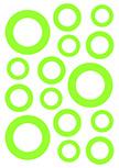 Stickers bulles découpés à la forme dans vinyle de couleur unie au choix. Planche de 15 stickers Bulles