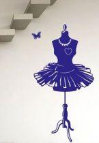 Stickers buste de styliste pour décorer une buanderie ou une pièce dédiée aux loisirs créatifs