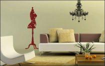 Le stickers buste de couture pour une décoration baroque