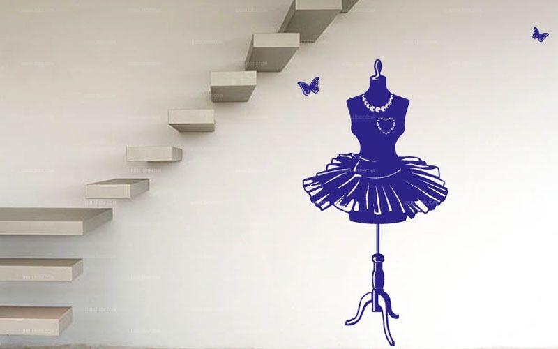stickers buste de styliste. Black Bedroom Furniture Sets. Home Design Ideas