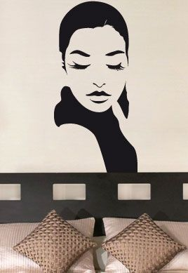 stickers muraux femme