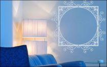 Le stickers cadre arabesque pour une décoration baroque