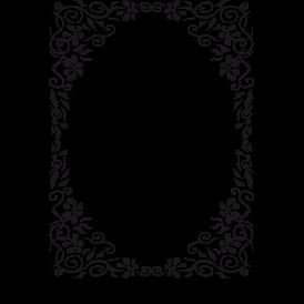 Le stickers cadre fleuri en noir. Décorez sur le thème du baroque.