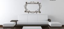 Le stickers cadre floral erable pour une décoration baroque