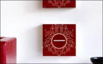 Le stickers cadre rond fleur pour une décoration baroque