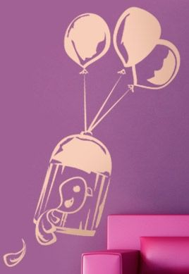Stickers cage et ballons