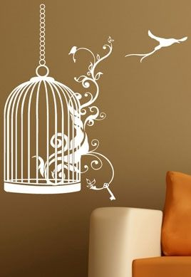 stickers oiseau liberte