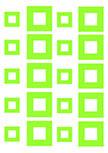 Stickers carres : Stickers découpés à la forme dans vinyle de couleur unie : 20 Carrés. A vous de composer votre propre deco murale