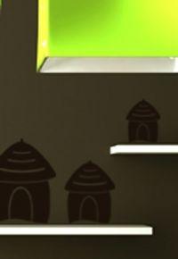 6 stickers cases découpées à la forme dans vinyle de couleur unie. La maison des uns peut décorer la maison des autres gràce aux stickers.