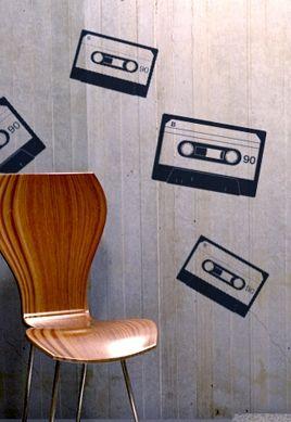 stickers cassette musique