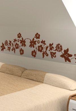 stickers tete de lit fleurs