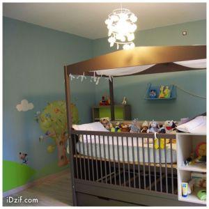 stickers chambre bébé arbre oiseau