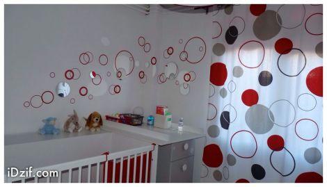 stickers chambre bébé bulles rondes