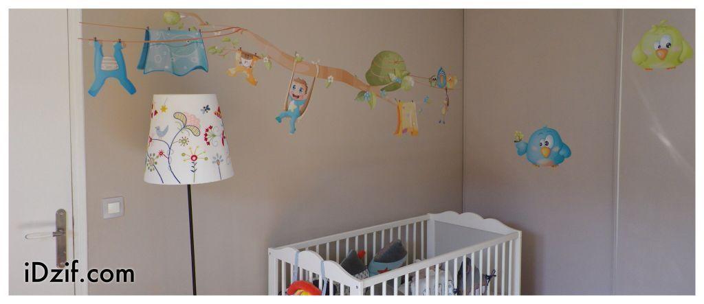 stickers chambre bébé frise