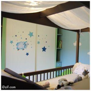 stickers chambre bébé mouton