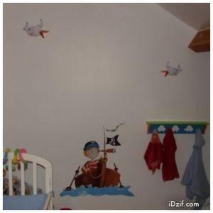 stickers chambre bébé pirate