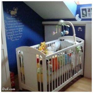 stickers chambre bébé souris verte